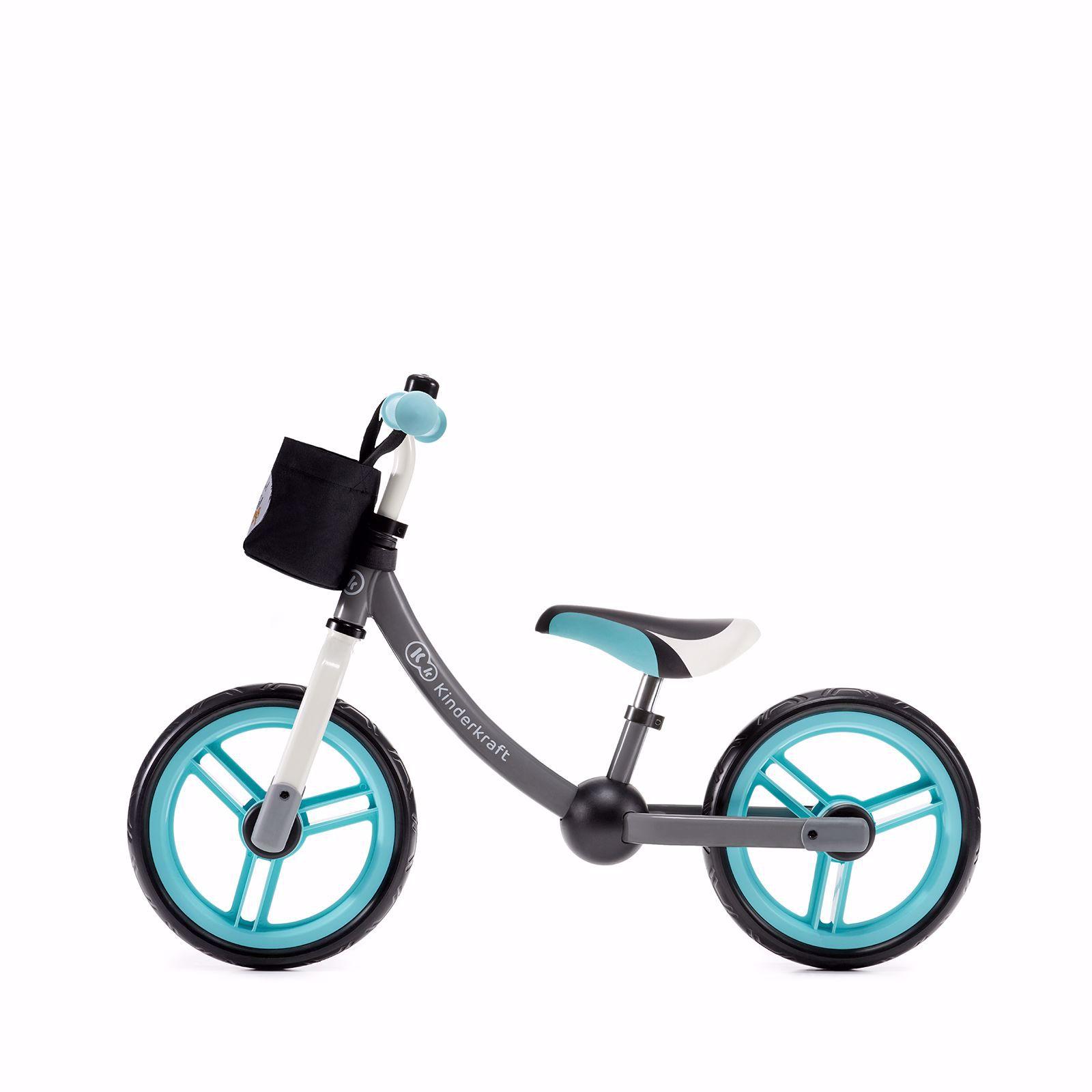 Obrazek Kinderkraft rowerek biegowy 2WAY next turquoise z akcesoriami